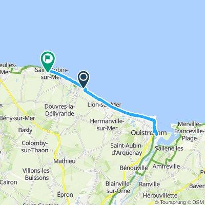 Itinéraire confortable en Saint-Aubin-sur-Mer