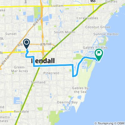 Supersonic route in Miami