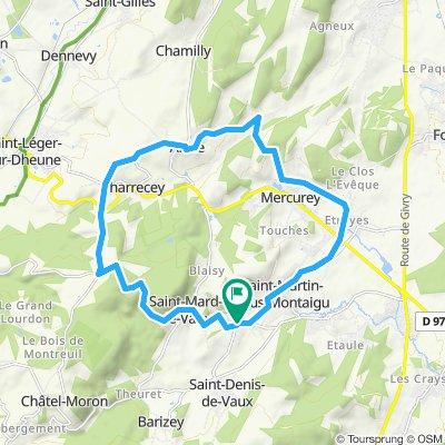 Boucle St Jean de vaux - 19,4km 300D+