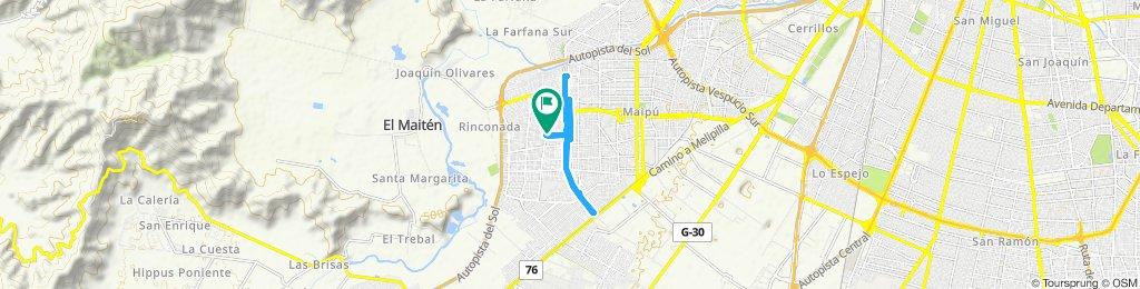 Ruta tranquila en Maipú