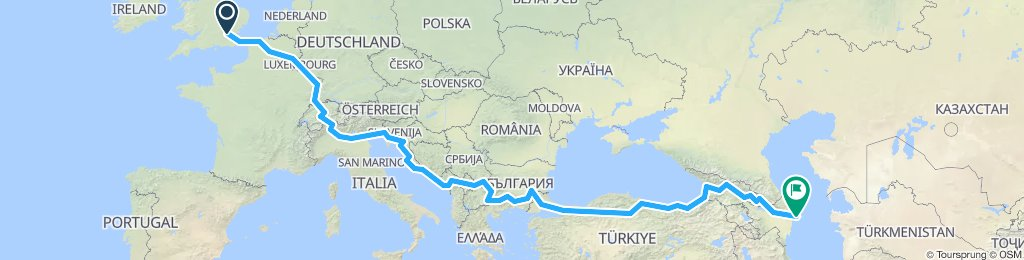 London to the Black Sea