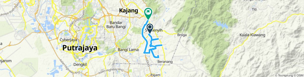 Moderate route in Semenyih