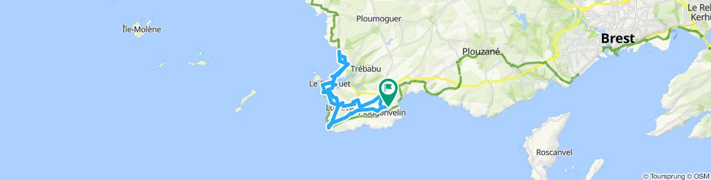 Itinéraire Plougonvelin-Le Conquet