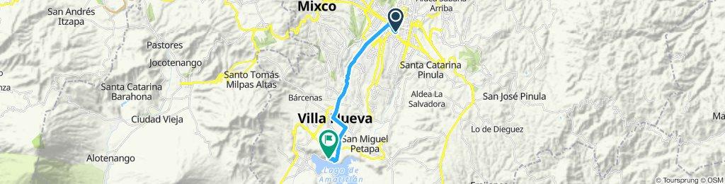 Ruta rápida en Villa Nueva