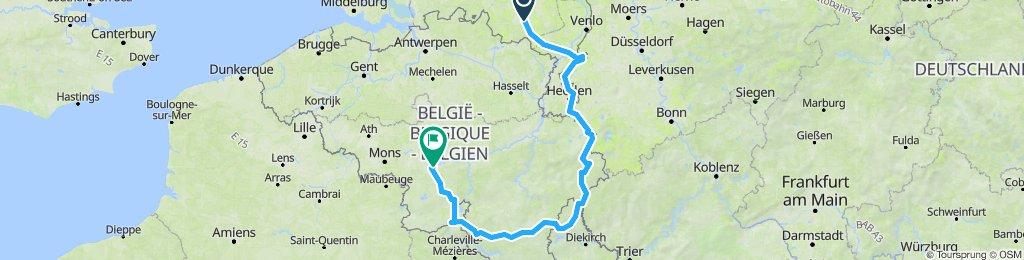 Benelux 2020 - Cała trasa