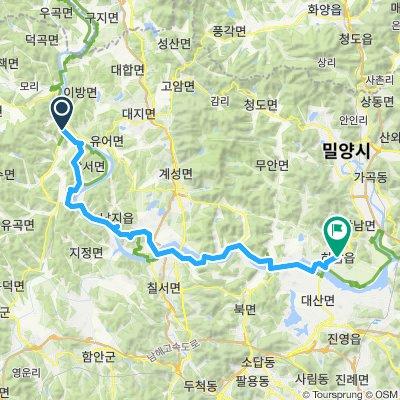 Slow ride in Miryang