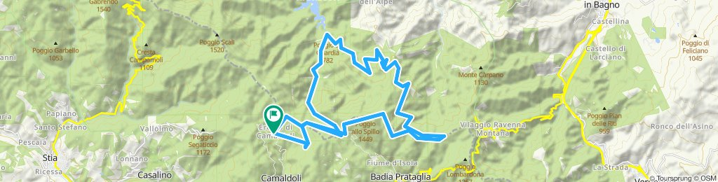 POPPI (AR) • La Lama dagli Scalandrini verso Cancellino
