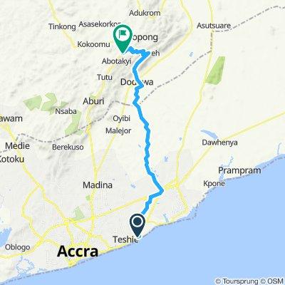Accra Mamfe 61km 660Hm 200Tm über Dodowa