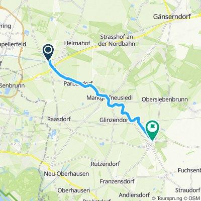 Entlang des Marchfeldkanals von Deutsch Wagram nach Leopoldsdorf