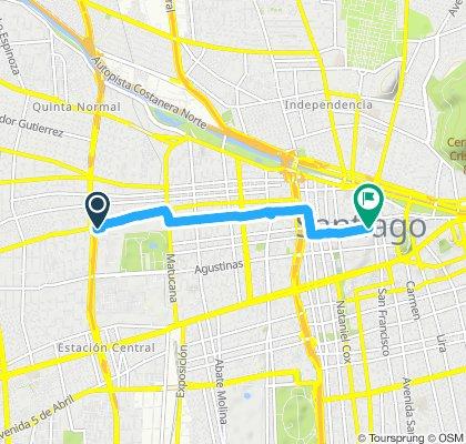 Ruta relajada en Santiago