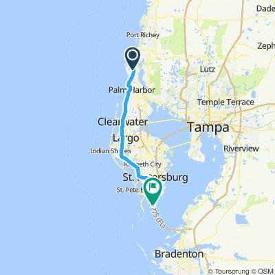 Gemütliche Route in St. Petersburg
