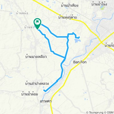 Moderate route in Tambon Pong Yang Khok