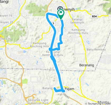 Moderate route in Malaysia