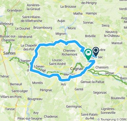 Itinéraire à grande vitesse en Nercillac