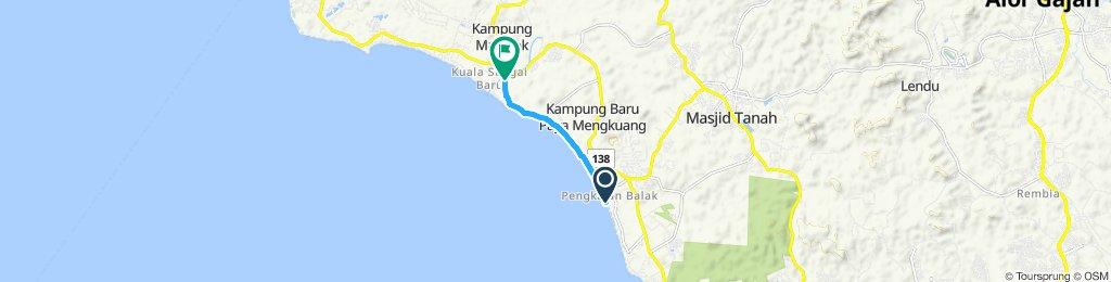 Relaxed route in Kuala Sungai Baru