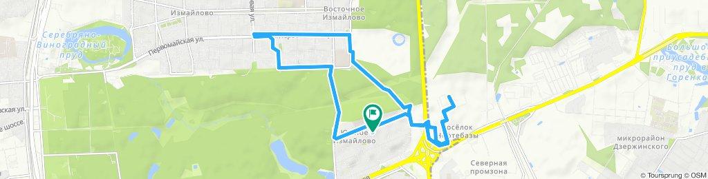 Быстрая вечерняя велоподработка зимняя оттепельная  Балашиха ЖК Измайловский Лес 07 12 2019