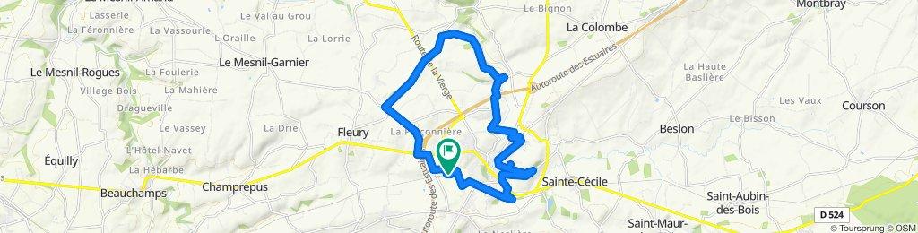 Itinéraire modéré en Villedieu-les-Poêles