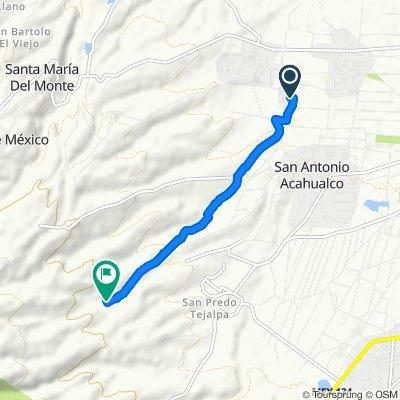 """Ruta constante en Zinacantepec """"la cuchara"""""""