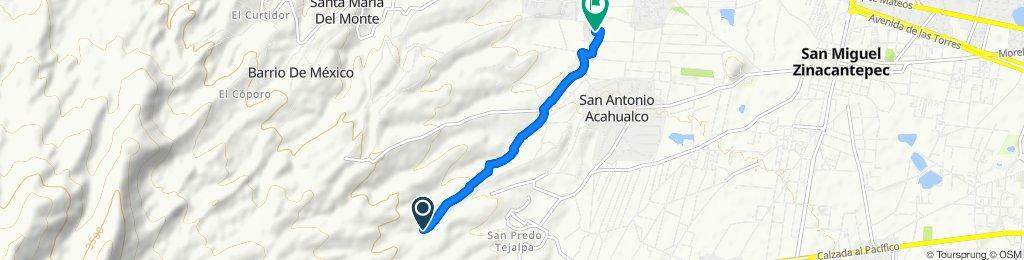 """Paseo rápido en San Francisco Tlalcilalpan """"descenso la cuchara"""""""