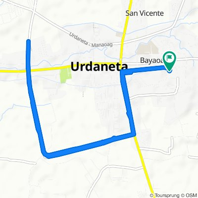 Relaxed route in Urdaneta City Bypass Road