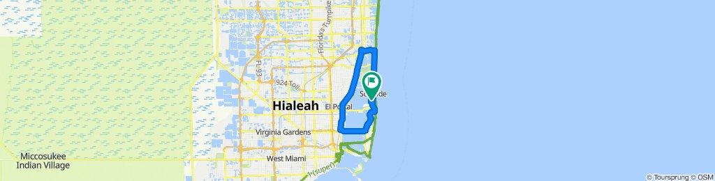 Supersonic route in Miami/Aventura