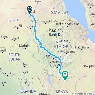 Khartoum to Kenya Boarder
