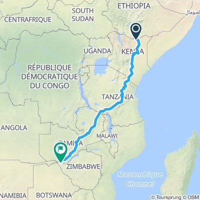 Kenya Border to Victoria Falls