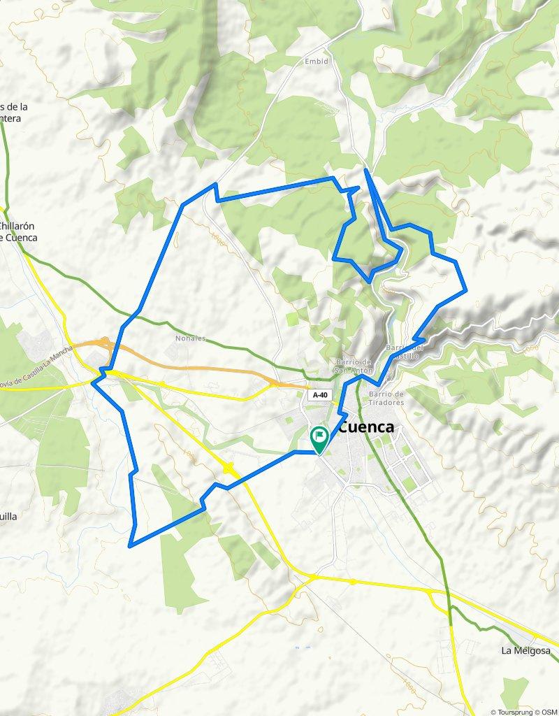Vuelta a Cuenca. Cañada real de Rodrigo Ardaz