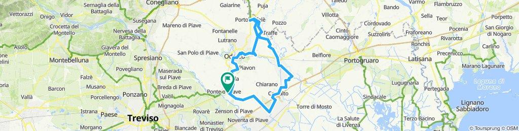 Ponte Piave-Oderzo-Porto Buffolè-Motta di Livenza-Cessalto-Ponte di Piave