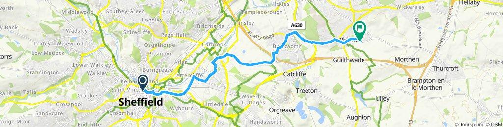 Sheffield to Rotherham via Brinsworth