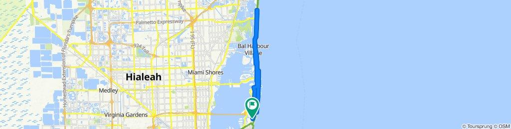 Slow ride in Miami Beach