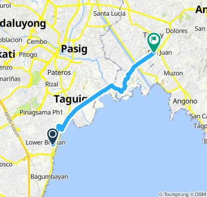 Sporty route in Taytay