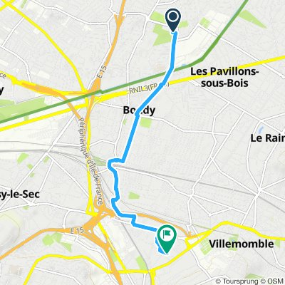 Itinéraire facile en Rosny-sous-Bois