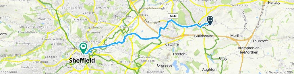 Rotherham to Sheffield via Brinsworth