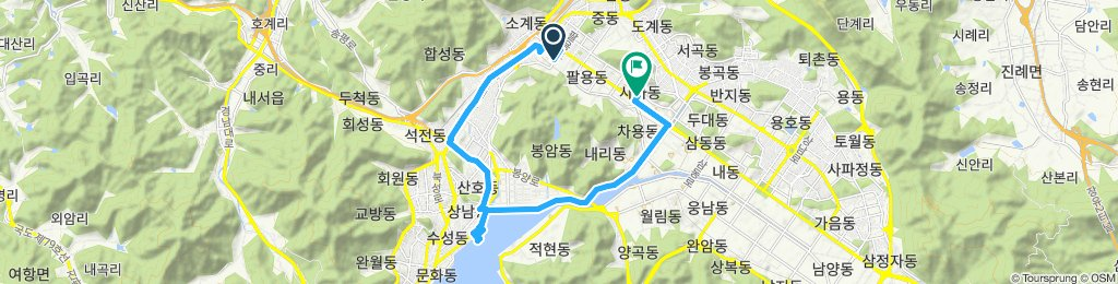 Slow ride in Changwon-si