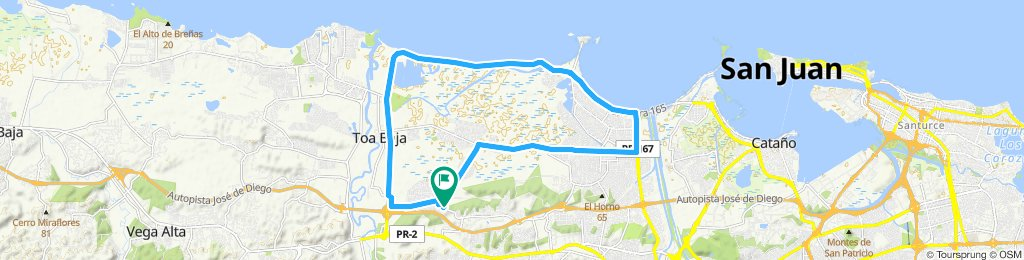 Sporty route in Toa Baja