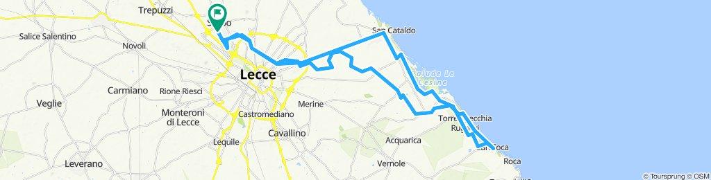 Giro a velocità lenta in Surbo