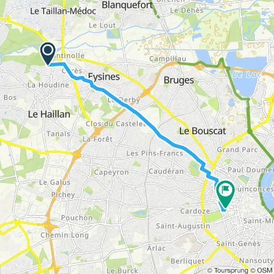 Itinéraire modéré en Bordeaux