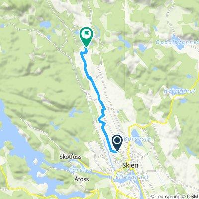 Grønne Sykkelruter, Grenland: Skien – Venstøp – Slettevann