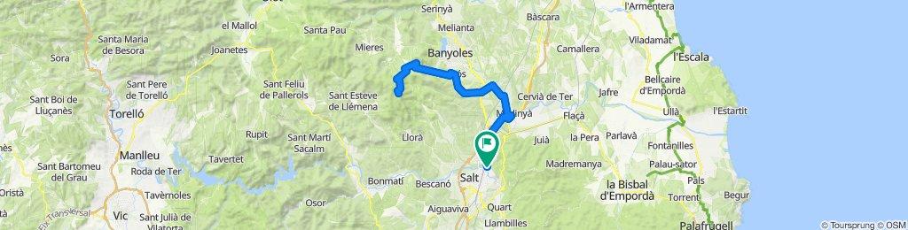 Rocacorba from Girona. Road cycling Catalonia