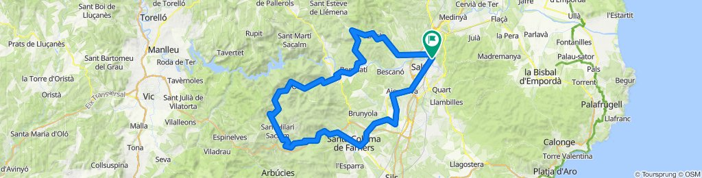 Girona - Sant Hilari. Road cycling Catalonia