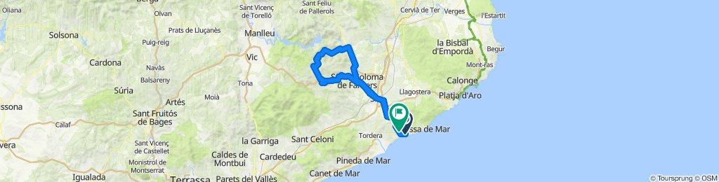 Lloret de Mar - Sant Hilari - Lloret de Mar. Road cycling Catalonia
