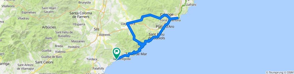 Lloret de Mar - Llagostera - Palamós - Sant Feliu - Lloret de Mar. Road Cycling Catalonia