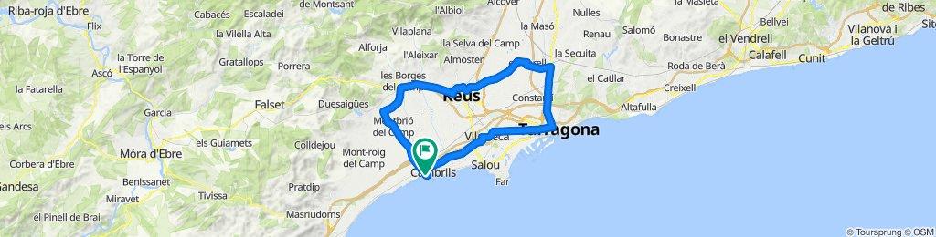 Cambrils - Reus - Tarragona - Cambrils. Road cycing Catalonia