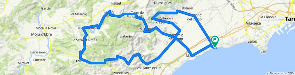 Serra de Llaberia. Road cycling Catalonia