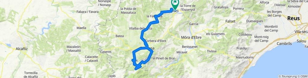 Ascó - Gandesa - Bot - Prat de Comte - Fontcalda - Ascó