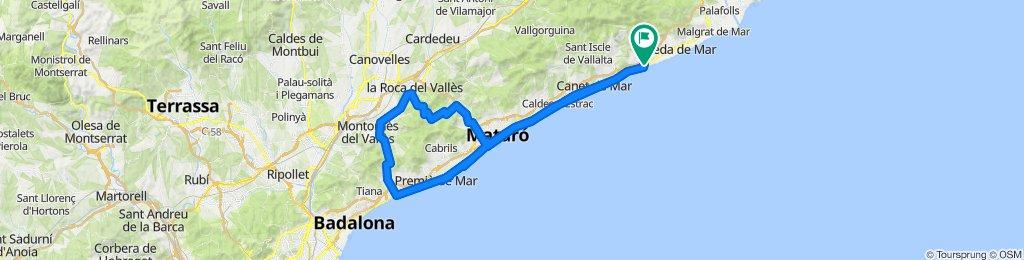 Maresme climbs. Road cycling Catalonia