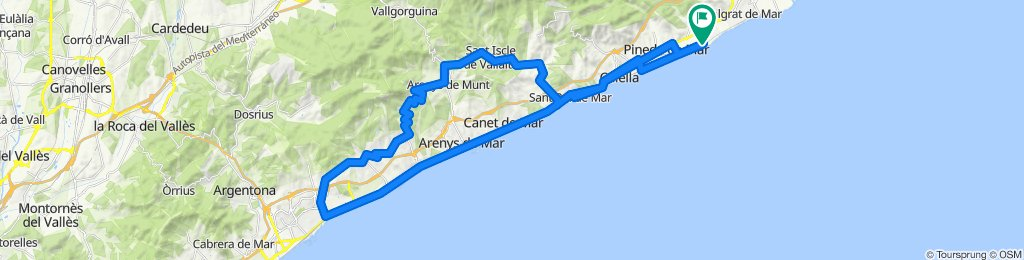 Santa Susanna - Calella - Mataró - Santa Susanna. Road cycling Catalonia