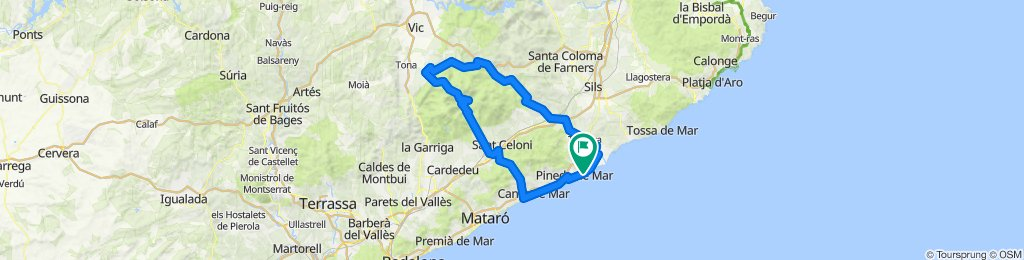 Montseny. Road cycling Catalonia