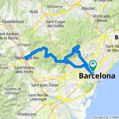 Barcelona - Collserola - Molins de Rei - Barcelona. Road cycling Catalonia